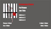 Grey and Red Pest Control Business Card Template